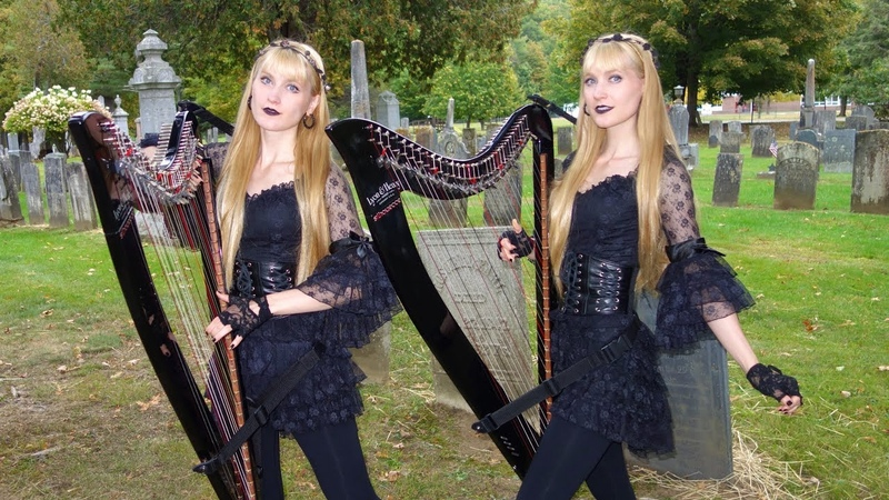 The Hearse Song (The Worms Crawl In) - Harp Twins, Camille and Kennerly