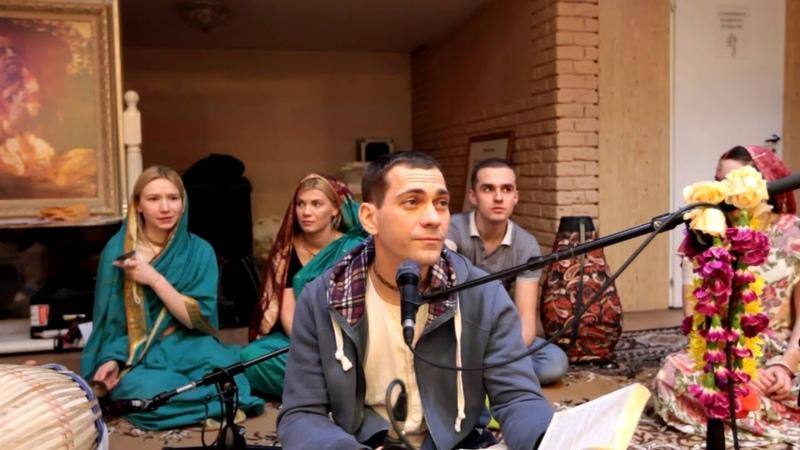 Бхаджаны «Бхаджаху Ре Мана» и «Джая Радха Мадхава» (Е.М. Махимарнава прабху) - Москва, 19.02.2016