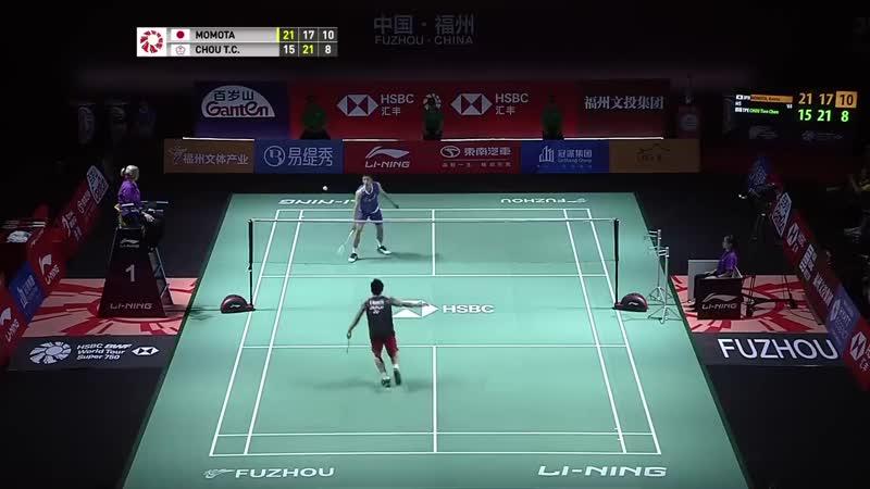 F _ MS _ Kento MOMOTA (JPN) [1] vs. CHOU Tien Chen (TPE) [2] _ BWF 2019