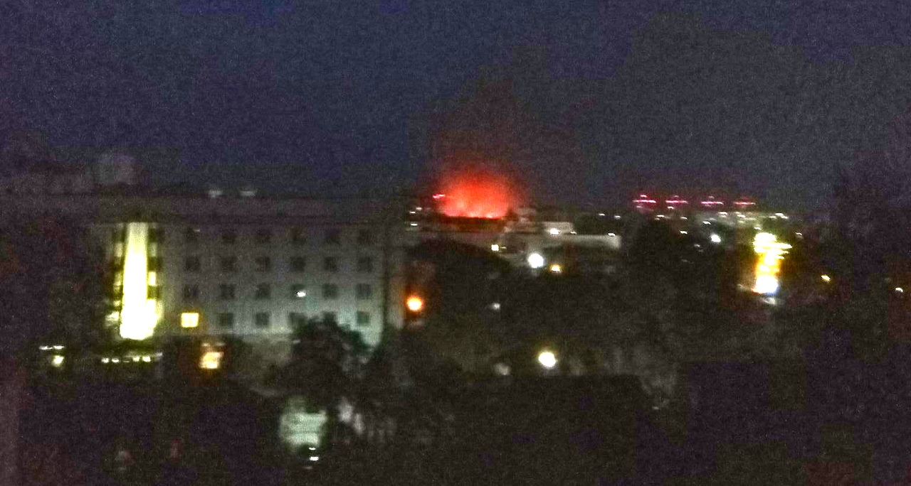 Сильный пожар в центре Бреста был вчера вечером. Что горело на этот раз?