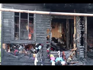 В Республике Коми полицейские спасли из горящего дома четырех детей и их мать