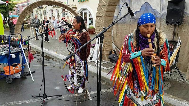 Индейцы в Муроме 6.07.2019. Гр.Runas Edison Luis
