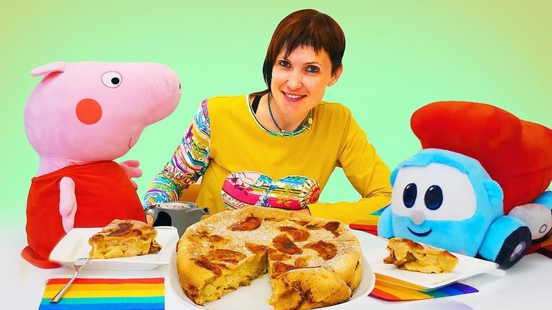 Шарлотка и свинка Пеппа. Маша Капуки и Пеппа учатся готовить. Мультик с игрушками для детей