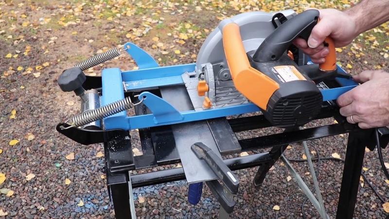 Diy Circular Track- Chop- saw Stand