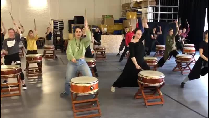Японские барабаны тайко 1