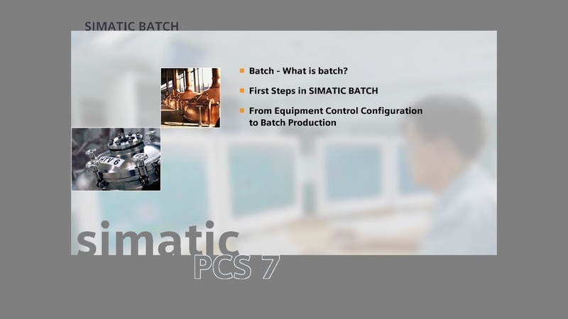13 - SIMATIC BATCH - The project on PCS7