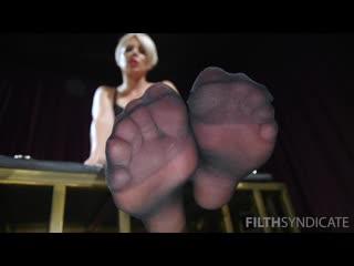 Helena Locke - Good Pets Worship Helena's Feet in Stockings | femdom | pov