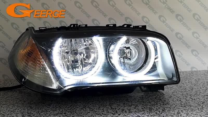 For BMW E83 X3 2007-2010 Halogen headlight Excellent angel eyes Ultra bright illumination smd led Angel Eyes Halo Ring kit DRL