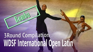 WDSF International Open Latin = Rumba = 2020 Latin Kvartal Cup = 3Round Compilation