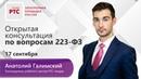 Открытая консультация по вопросам 223-ФЗ (17.09.2019)