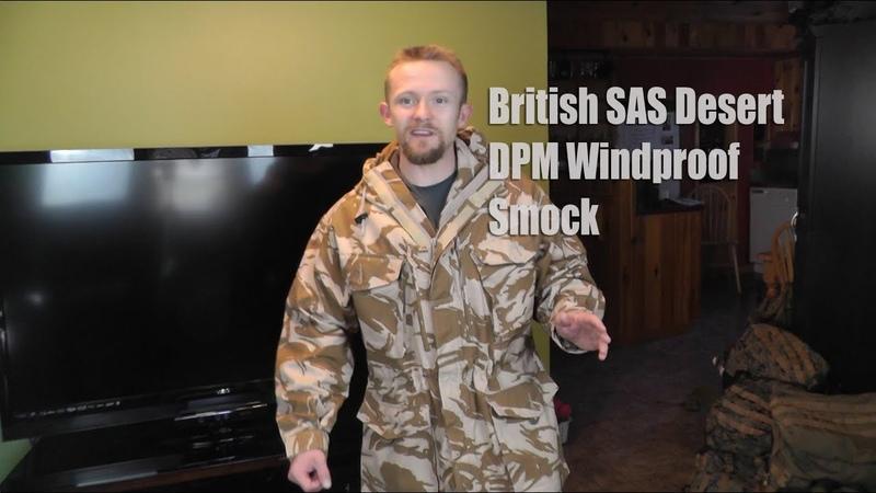 British SAS Desert DPM Windproof Smock Military Surplus Preview