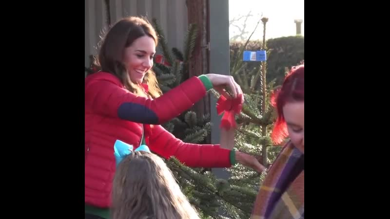 The Duchess of Cambridges visit yesterday with children and families supported to a Christmas tree farm