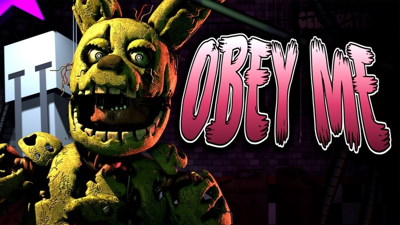 FNAF SONG: OBEY ME by HalaCG (Animated Music Video)