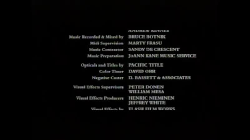 Movie End Credits 1247 Man of the House 2005