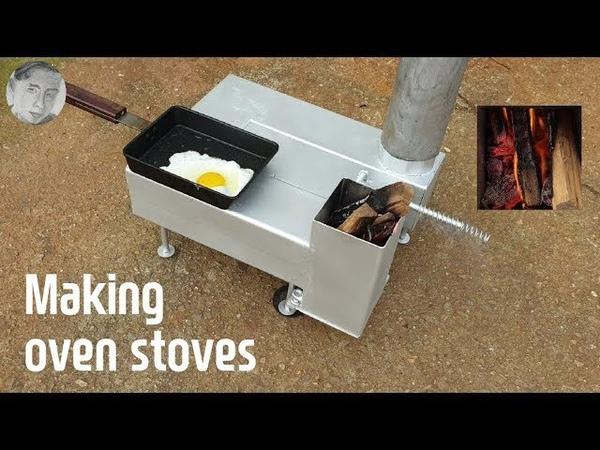 캠핑용 오븐 스토브 만들기 (Making oven stoves)
