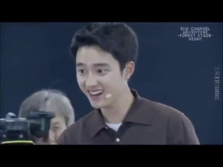 When kyungsoo walked toward you like that you could do nothing but begged for forgiveness
