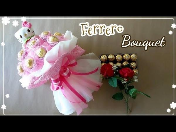 How To Wrap Kitty And Ferrero Bouquet/วิธีทำช่อคิตตี้เฟอร์เรโร่
