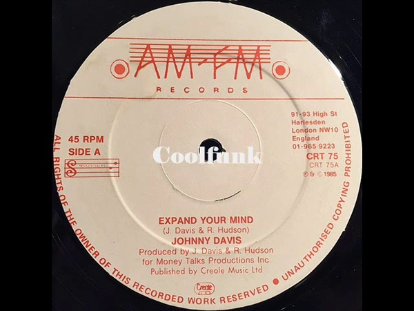 Johnny Davis Expand Your Mind 12 Inch 1985