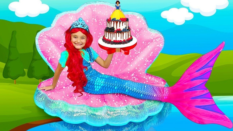 Sasha plays the Princess Contest and Making her new Room Dresses up as a Mermaid