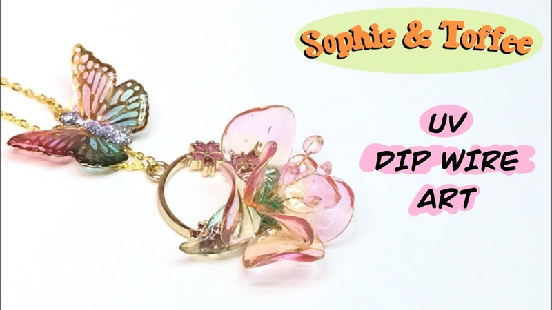 Sophie Toffee DIP WIRE ART The Elves Box Resin crafts Tutorial