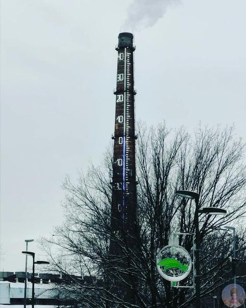В Казани заработал 100-метровый термометр В Горкинско-Ометьевском лесу начал работать в тестовом режиме 100-метровый термометр, размещенный на дымовой трубе котельной «Горки». Арт-объект