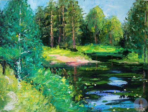 Ирина Солдатенко - московская художница.