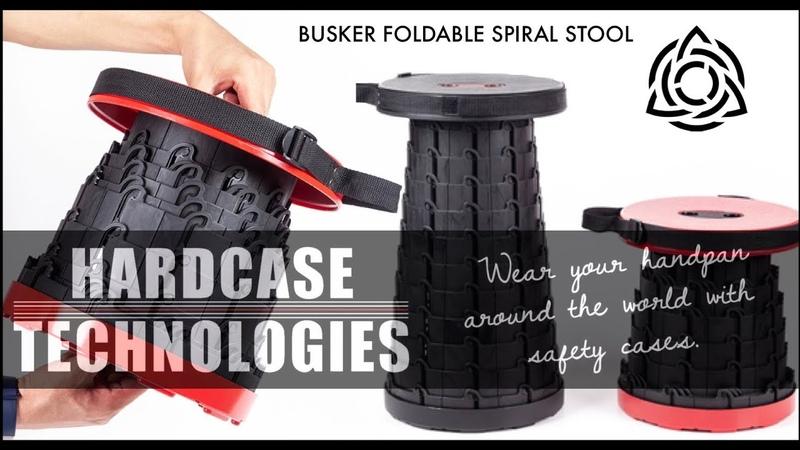 Handpan Busker Foldable Spiral stool Promote by Hardcase Technologies