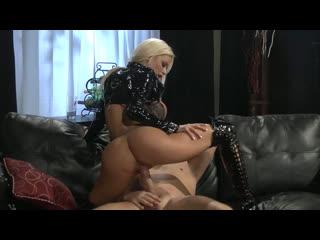 Nikita Von James hot sex in latex uniform and over knee boots [Blonde, Big Tits, High Heels, Hardcore, Cum on Tits, New Porn LQ]