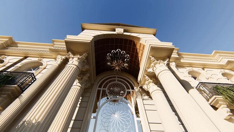 Neo classical architecture villa classic architecture | modern classic architecture Animation