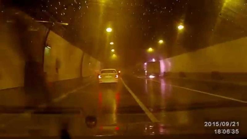 Пожар в тоннеле на Маршала Жукова