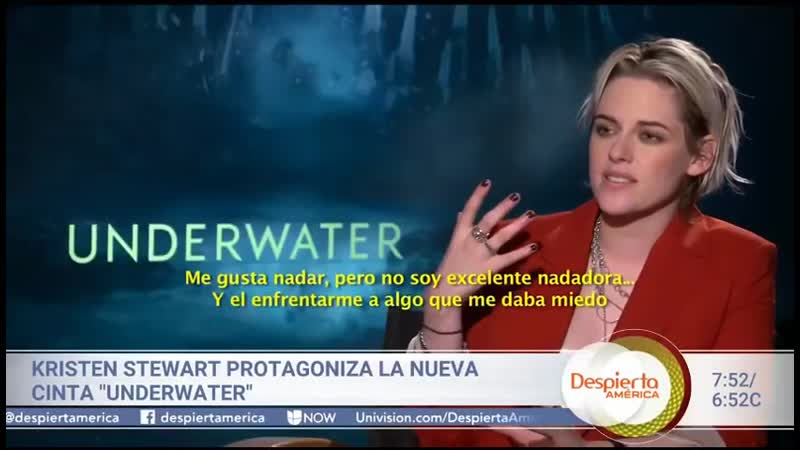Al filmar la película Underwater Kristen Stewart tuvo que enfrentar uno de sus más grandes miedos