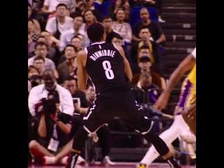 Spencer Dinwiddie 20 PTS fades away in PhantomCam! - - @BrooklynNets 76 - @Lakers 78 - - NBAChinaGames on @NBATV