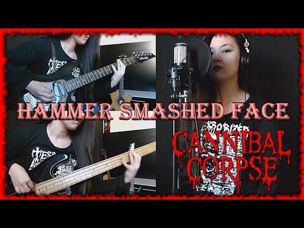 Cannibal Corpse - Hammer Smashed Face (guitar, bass and vocal cover by Isabela Moriki)