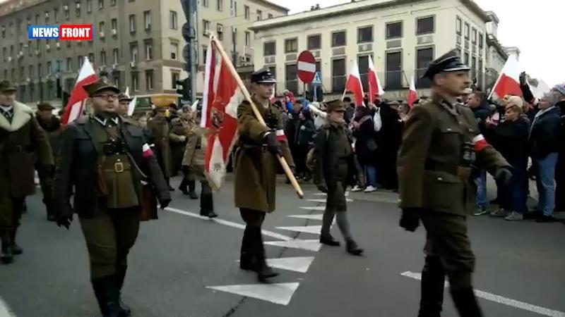 В Варшаве националисты устроили марш в честь Дня независимости