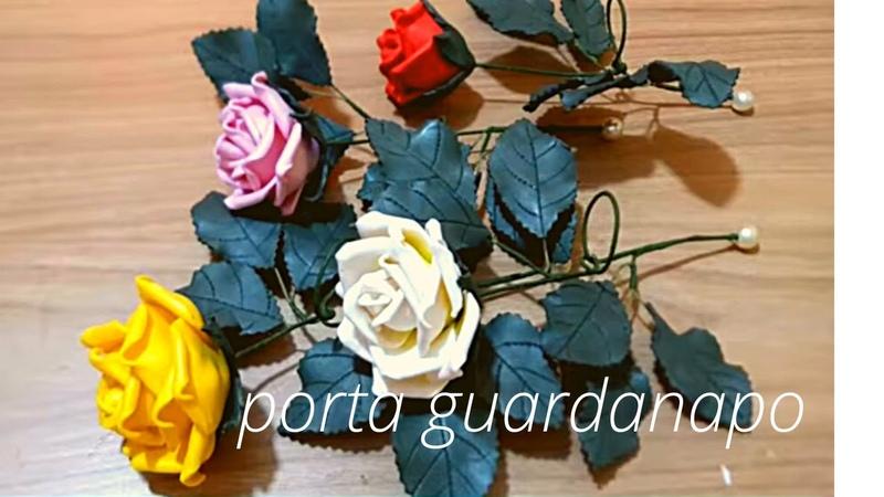 COMO FAZER UM LINDO PORTA GUARDANAPO DE ROSA CONJUGADA COM CAULE SEM FRISADOR IDEAL PARA FESTAS.