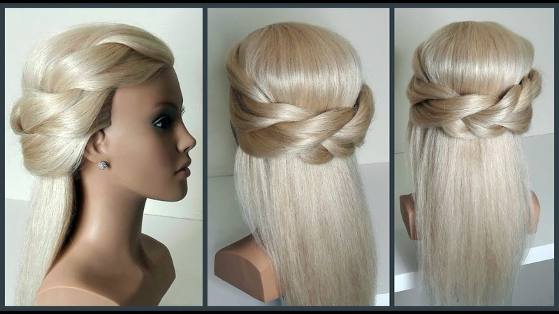 Простой вариант для создания самой себе красивой прически Fast easy beautiful hairdo for yourself