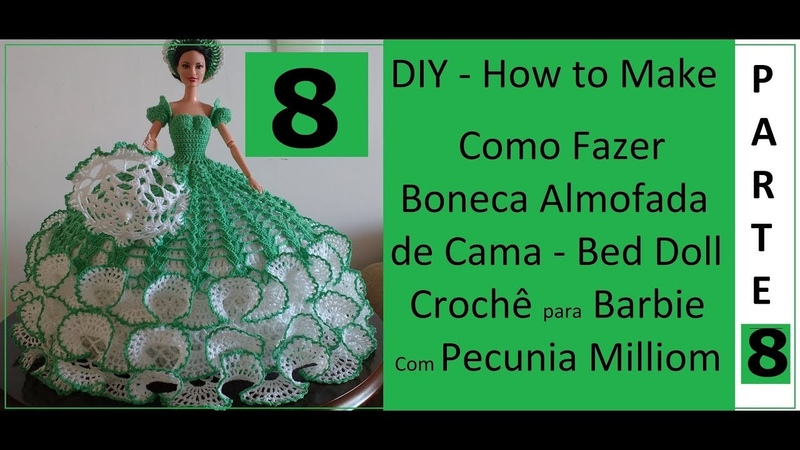 DIY Almofada de Cama Barbie Bed Doll Sombrinha Parte 8 Com Pecunia MillioM