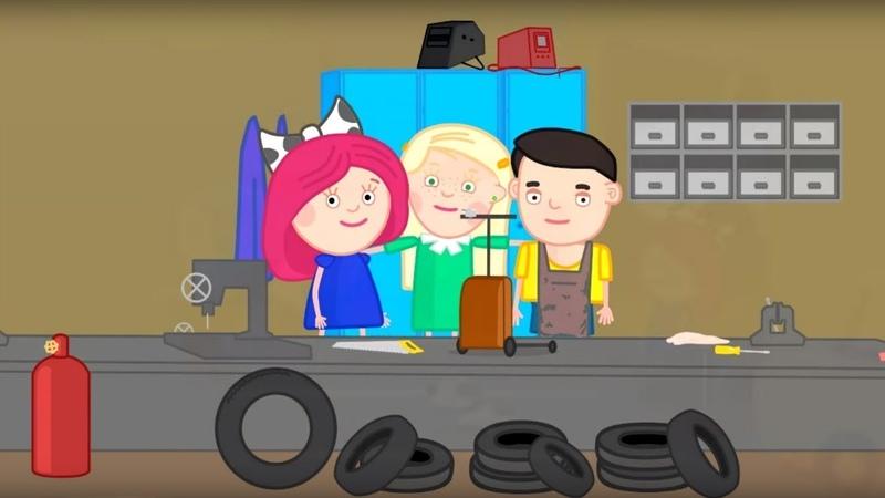 Zeichentrick für Kinder auf Deutsch Smarta und ihre magische Tasche Smartas Roller ist kaputt