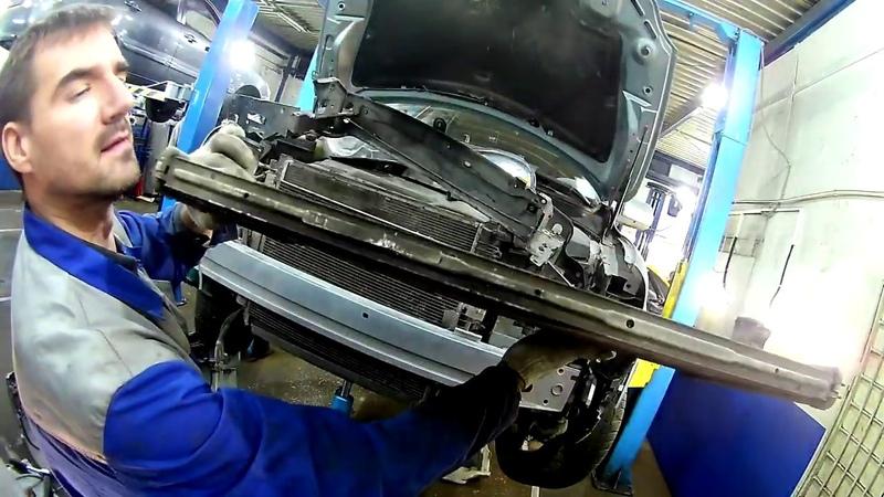 Volvo XC90 disel замена радиатора интеркулера или почему Volvo не едет