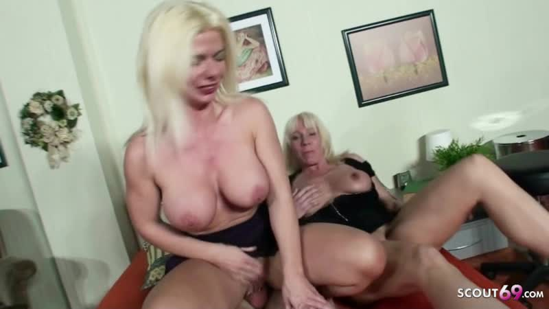 Virgin Boy Fuck by two German MILF to his 18 Birthday i