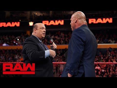 Paul Heyman answers Kurt Angle's ultimatum Raw July 16 2018