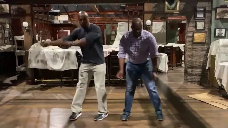 Terry And Captain Holt Rehearsing Their Dance Brooklyn 99 Season 7 Behind The Scenes
