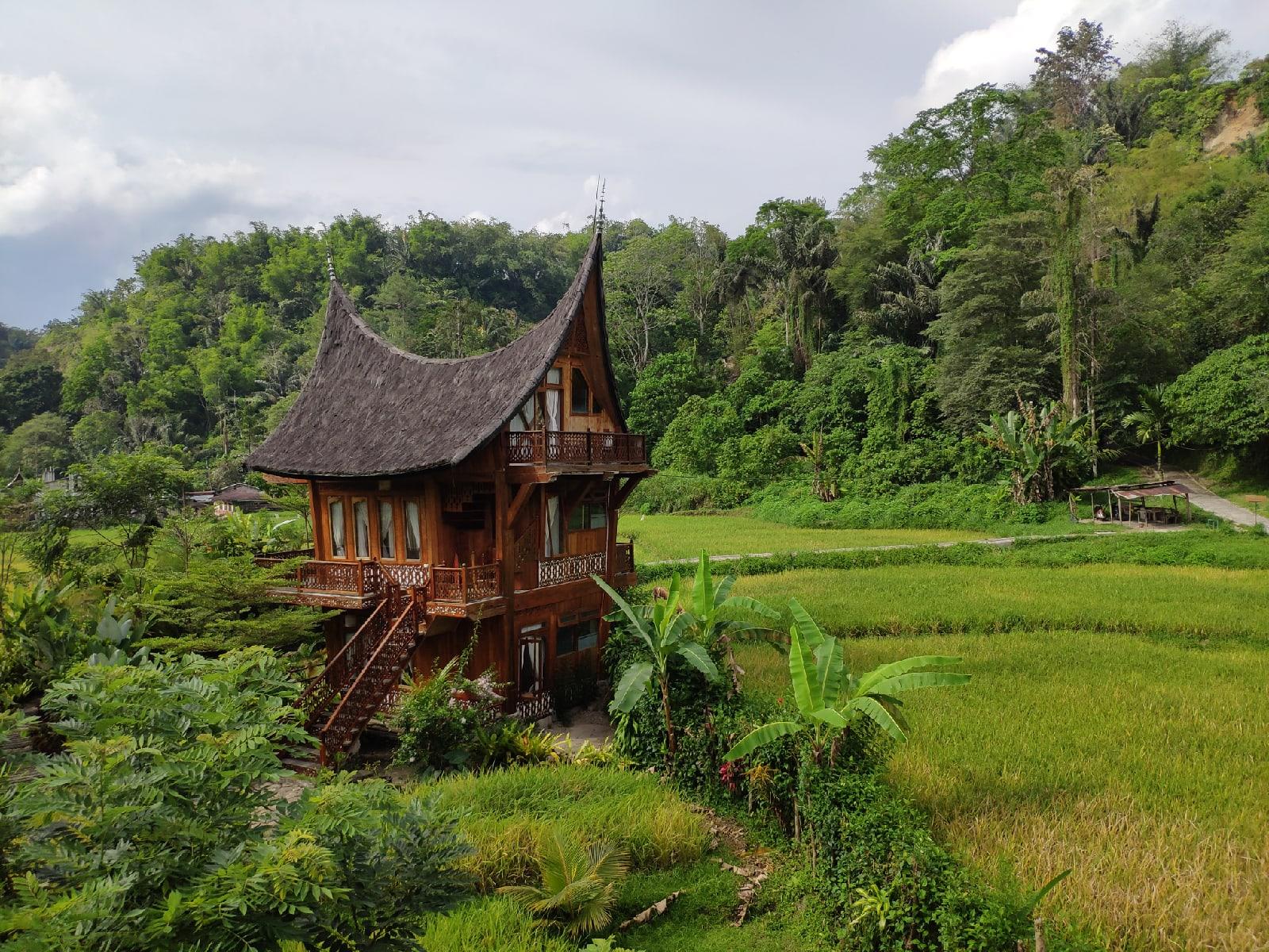 традиционная архитектура провинции западная Суматра