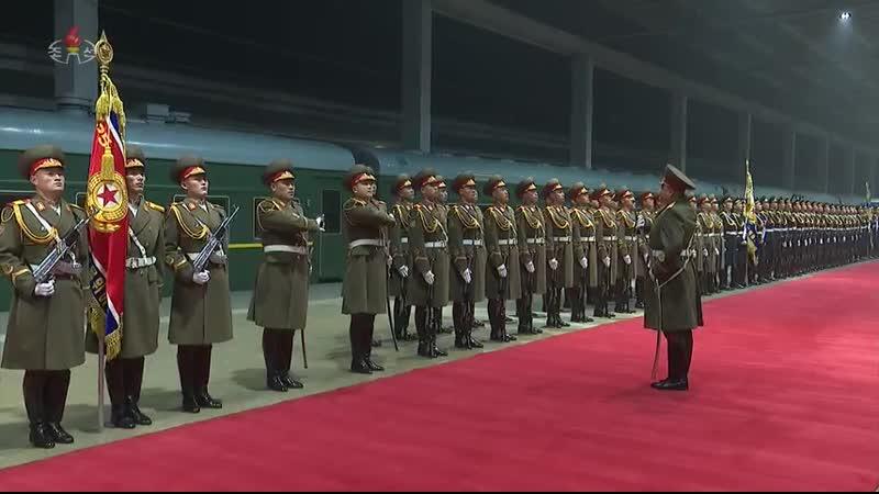 우리 당과 국가, 군대의 최고령도자 김정은동지께서 윁남사회주의공화국에 대한 공식친선방문을 성과적으로 마치시고 조국에 도착하시였다