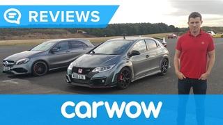 Mercedes A45 AMG vs Honda Civic Type R Drag Race   Mat Watson Reviews
