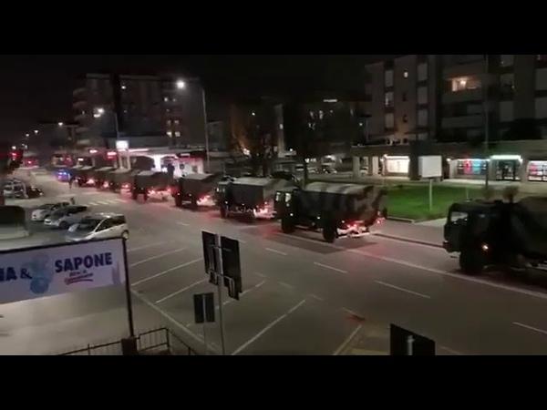Coronavirus Italy Troops deployed in Bergamo