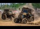 Мощные гонки на тракторах