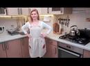 DIY Как сшить фартук - сарафан Красивый льняной фартук для кухни с аппликацией и сборками на поясе