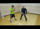 Самурайский меч учебный против бокса