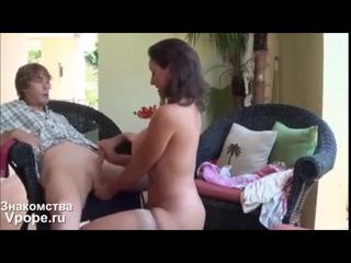 Мама учит неопытного сына обращаться с женщинами | порно со зрелыми женщинами, mature, milf, мамки, xxx, sex, porn